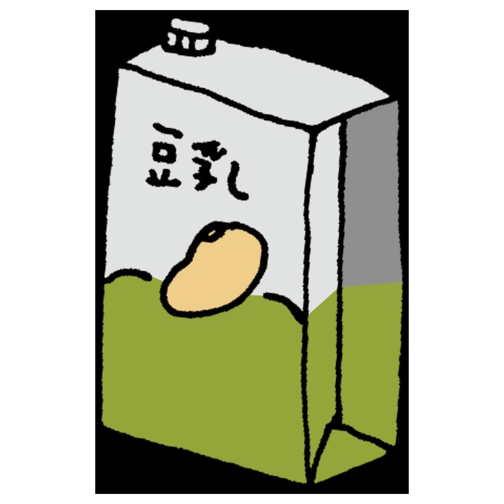 パックに入った豆乳のフリーイラスト