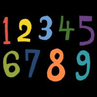 手書き風,記号,数字,番号,1,2,3,4,5,6,7,8,9,数える,数,算数,数学,勉強,足し算,引き算,学校,学ぶ,すうじ,NO