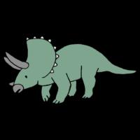 手書き風,恐竜,古代,生き物,白亜紀,生物,動物,絶滅,滅ぶ,怖い,大きい,ジュラシック,草食,トリケラトプス