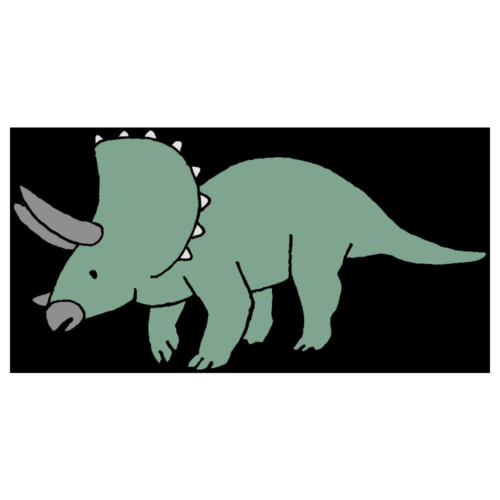 トリケラトプスのフリーイラスト
