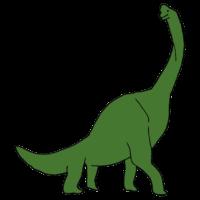 ブラキオサウルスのフリーイラスト