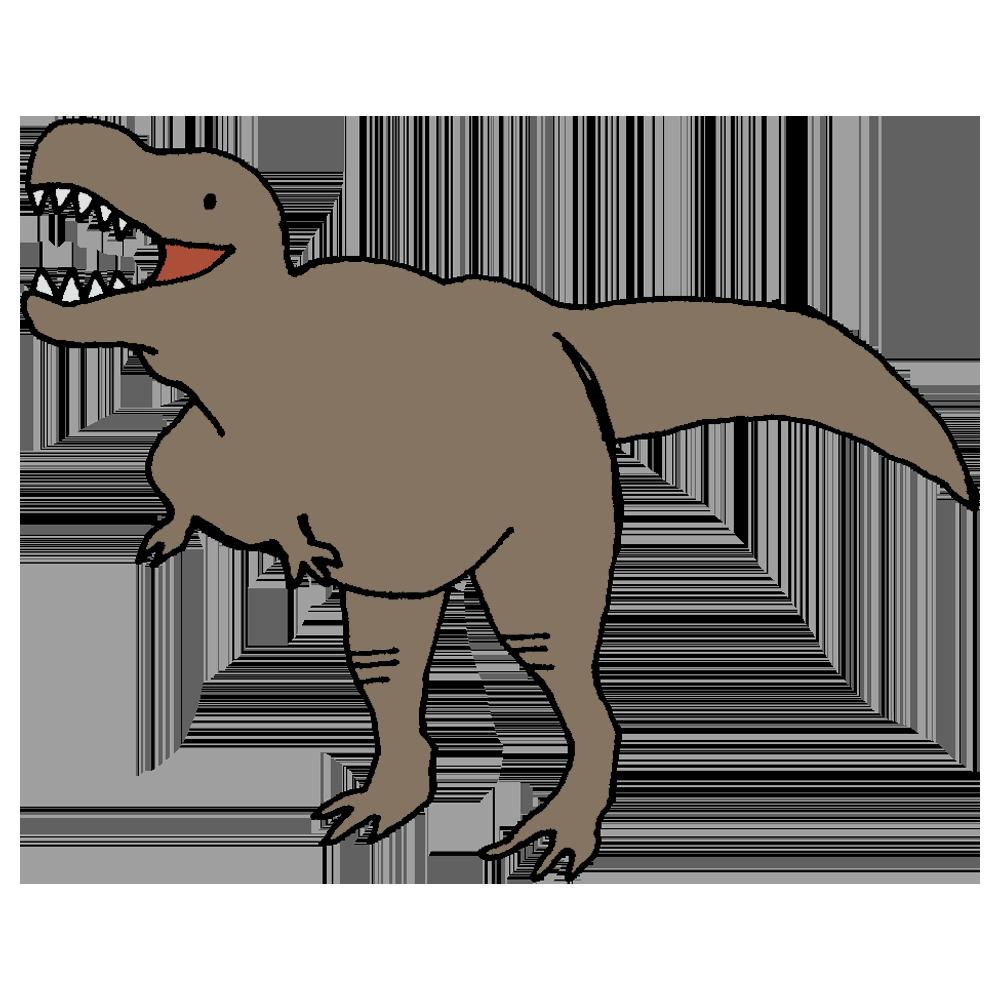 ティラノサウルスのフリーイラスト