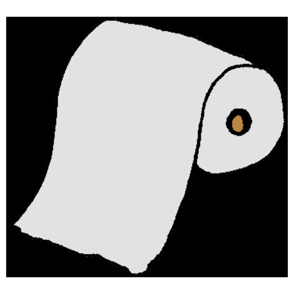 トイレットペーパーのフリーイラスト