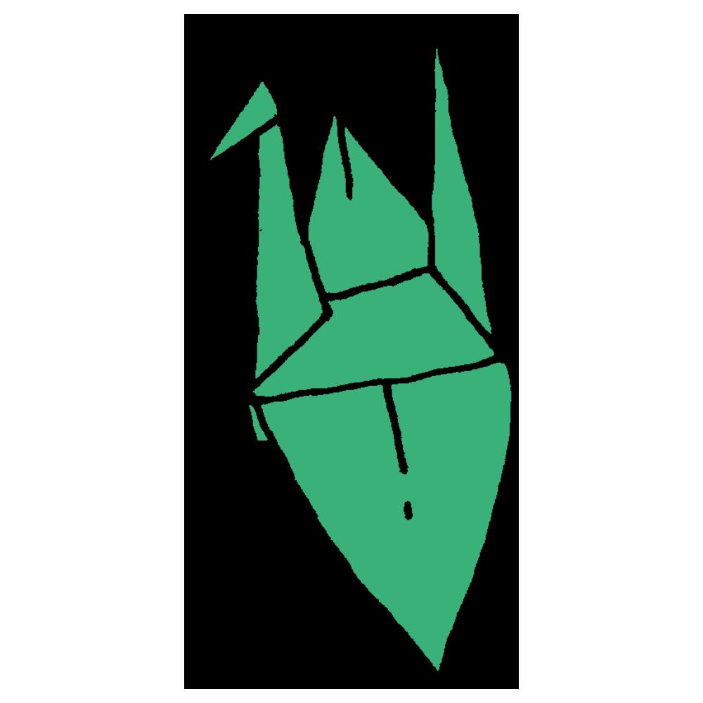折り紙の鶴のフリーイラスト