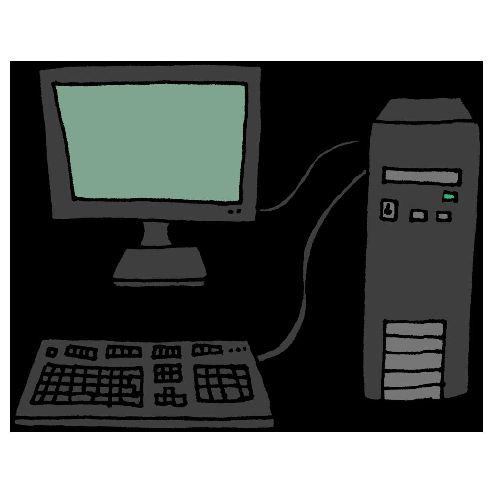 デスクトップパソコンのフリーイラスト