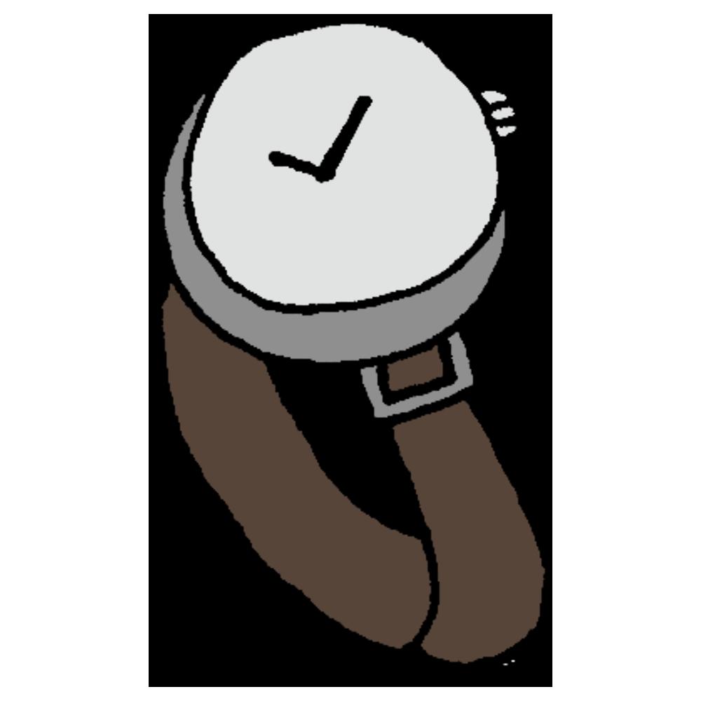 皮の腕時計のフリーイラスト