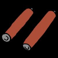 単三の乾電池のフリーイラスト