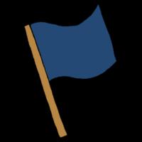 手書き風,フラッグ,道具,フラッグマン,旗,振る,パタパタ,はためく,応援,目印,四角,布