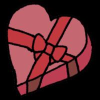 手書き風,プレゼント,バレンタイン,チョコレート,気持ち,贈る,ハート,箱,ボックス,心,2月14日,ホワイトデー,片思い,両想い,恋愛,愛,恋