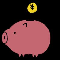 手書き風,豚,ぶた,ブタ,貯金箱,貯金,小銭,貯める,お金,マネー,ショッピング,お買い物,陶器,割れる,割る,大金,金,金を貯める,\,円,¥
