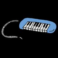 鍵盤ハーモニカのフリーイラスト