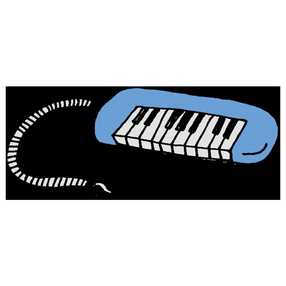 手書き風,音楽,楽器,ピアニカ,ピアノ,学校,授業,吹く,音,鳴る,ドレミファソラシド,オーケストラ,可愛い,子供,鍵盤ハーモニカ,メロディオン