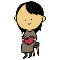 本を読む女性のフリーイラスト
