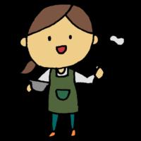 手書き風,女性,バレンタイン,イベント,お菓子を作る,作る,調理,料理,手料理,泡だて器,ボウル,パティシエ,お菓子,コック,パティシエール,料理教室,先生,仕事,ご飯,食べ物,美味しい,バレンタインデー,2月14日,人物