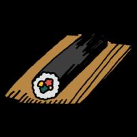 手書き風,食べ物,恵方巻,料理,食べる,無言,節分,2月,3日,冬,豆まき,豆,鬼,東西南北,向き,ご飯,夕飯,美味しい,日本食,イベント