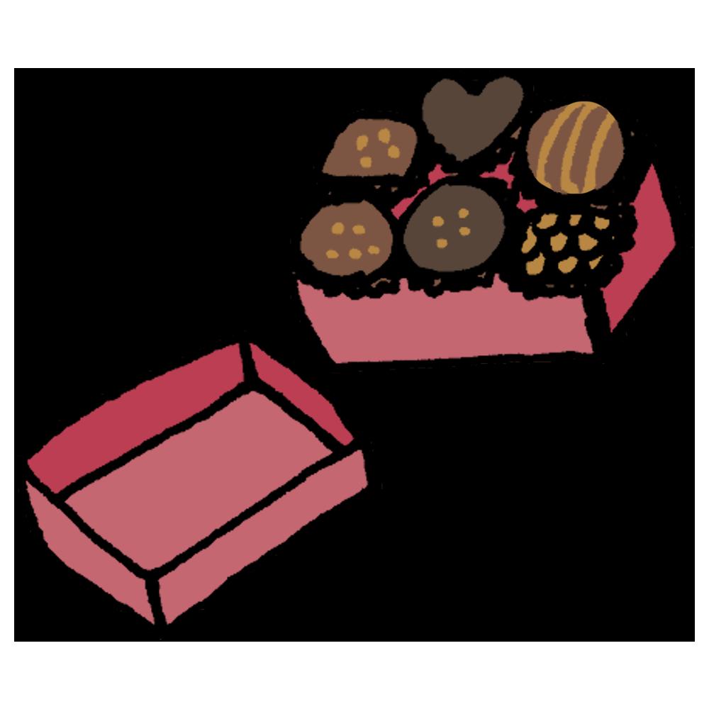 6粒入ったチョコレートのフリーイラスト