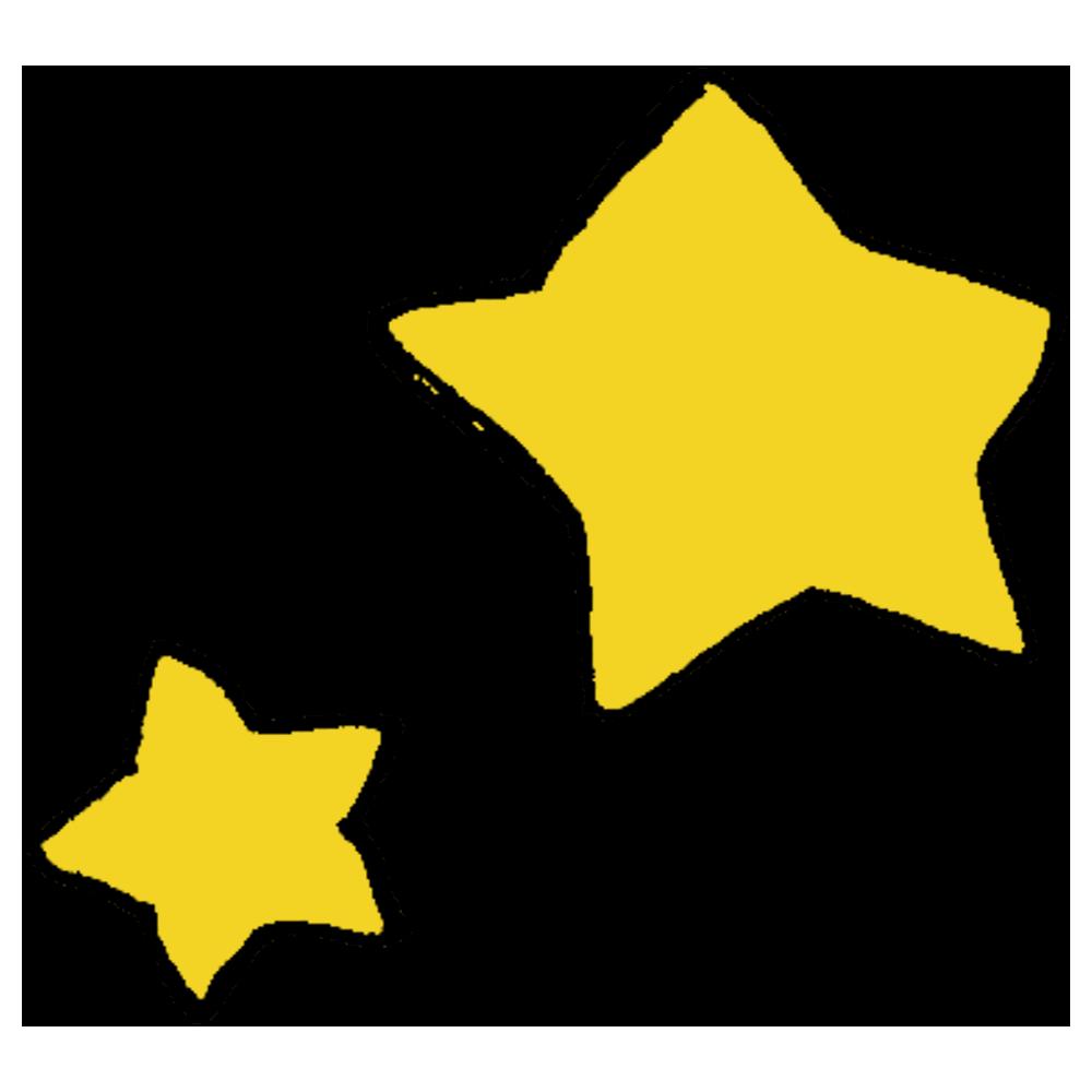 大きい星と小さい星のフリーイラスト