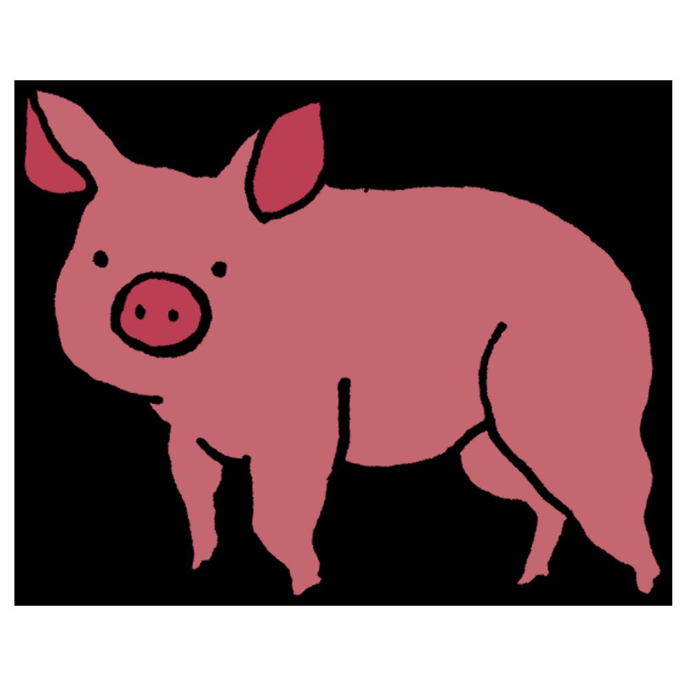 手書き風,動物,豚,ぶた,ブタ,ピッグ,飼う,農場,食べられる,子豚,可愛い,ブヒブヒ,揶揄,飼われる,農場,ファーム