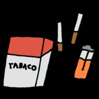 紙タバコのフリーイラスト