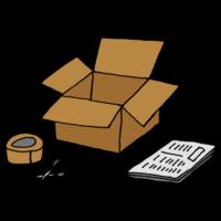 荷物を詰める道具のフリーイラスト