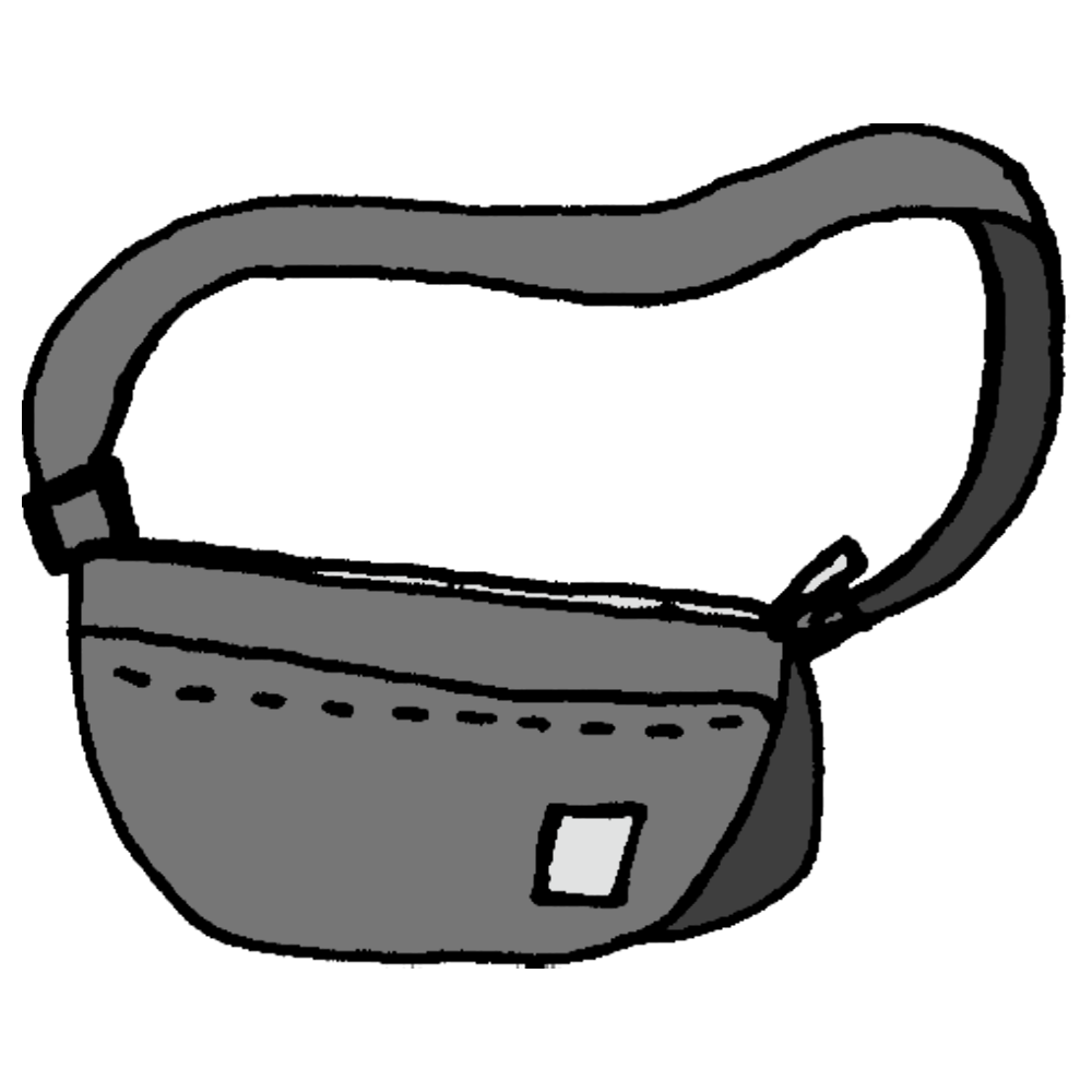 ショルダーバッグのフリーイラスト