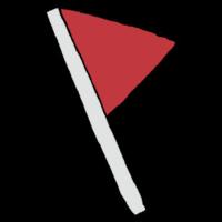 三角のフラッグのフリーイラスト