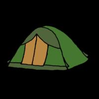 テントのフリーイラスト
