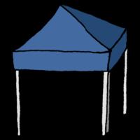 手書き風,レジャー,四つ足,テント,立つ,立てる,アウトドア,キャンプ,フリーマーケット,出店,お店,日よけ,日光,キャンプ場,共同作業