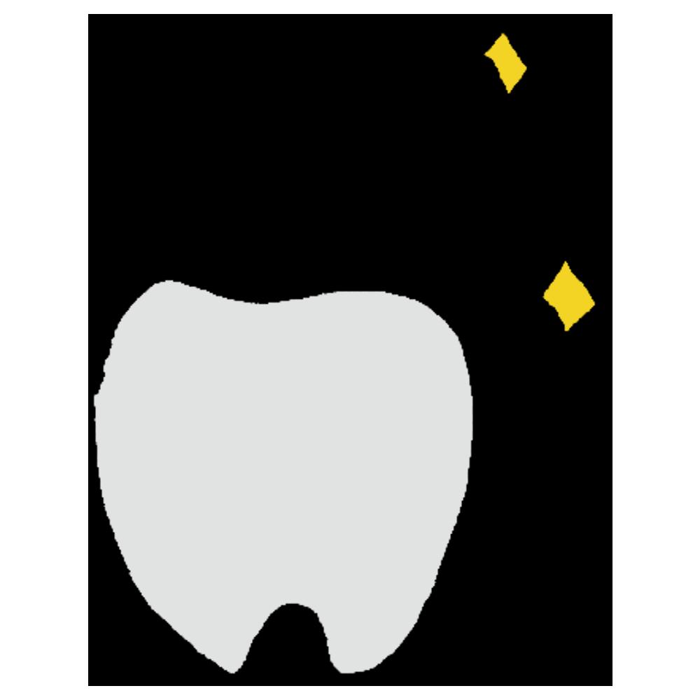 ピカピカの歯のフリーイラスト