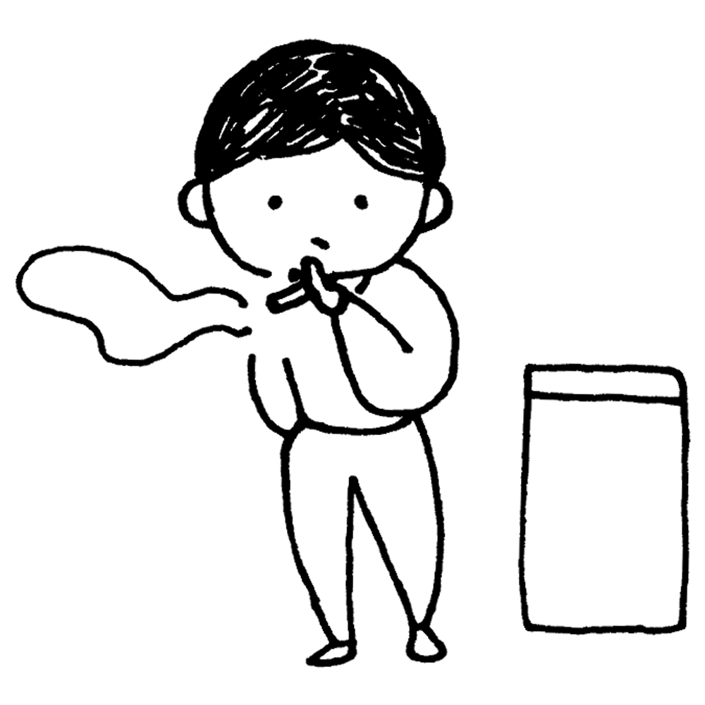 手書き風,人物,学生,煙草,タバコ,たばこ,喫煙者,喫煙,ヘビースモーカー,もくもく,煙,喫煙所,灰皿,火,煙い,臭い,百害あって一利なし,健康被害,受動喫煙