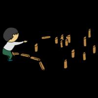 手書き風,人物,男性,もるっく,モルック,スポーツ,日本代表,運動,投げる,木,フィンランド,スキットル,モルッカーリ