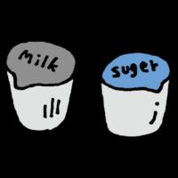 ガムシロップとミルクのフリーイラスト