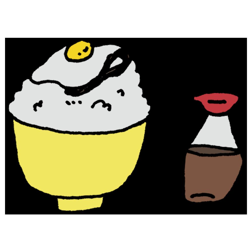 卵かけご飯のフリーイラスト