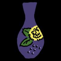 高そうな和風の花瓶のフリーイラスト