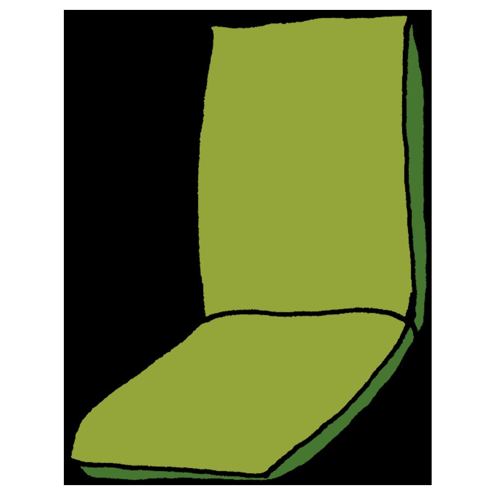 座椅子のフリーイラスト