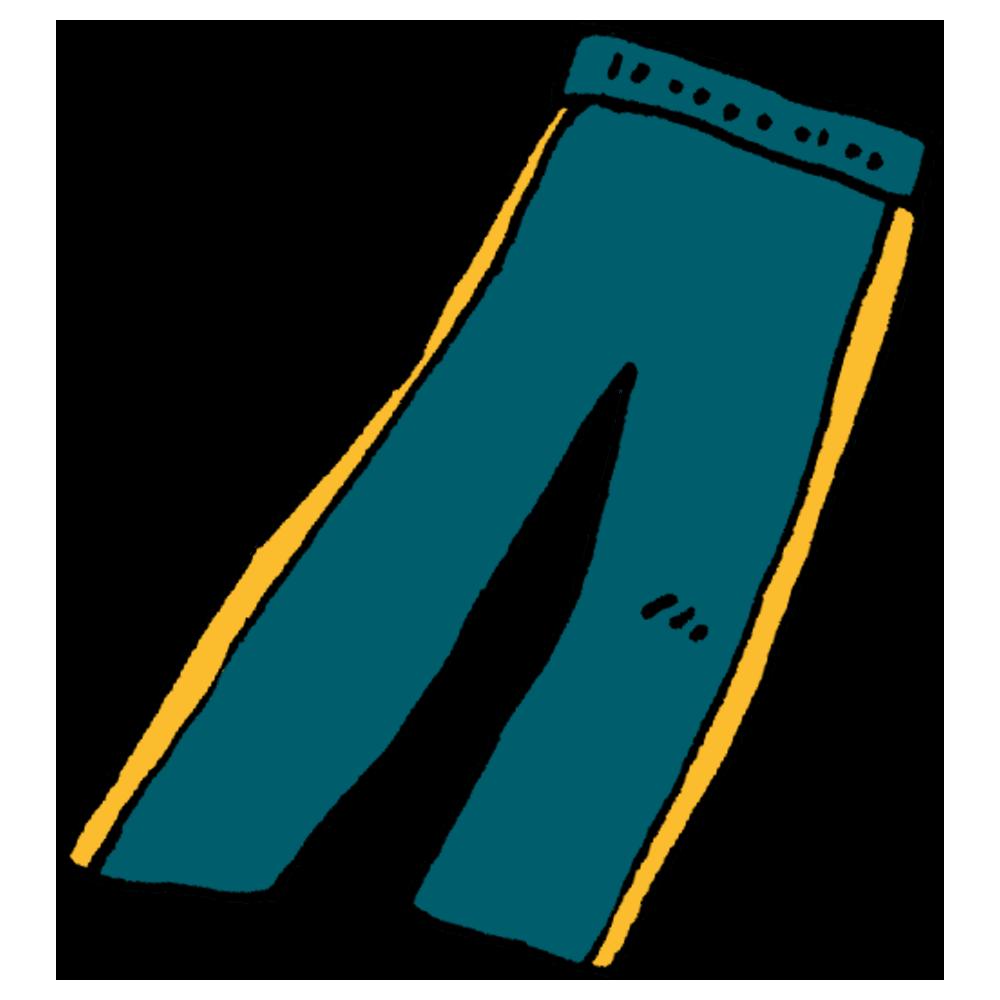 ジャージのズボンのフリーイラスト