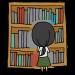 本を選ぶ女性のフリーイラスト