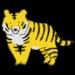 手書き風,動物,手書き風,動物,トラ,虎,干支,十二支,年賀状,寅年,タイガー,強い,かっこいい,牙,大きい,2022年,2034年